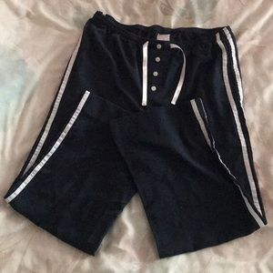 Two stripes lounge pants with adjustable waistband